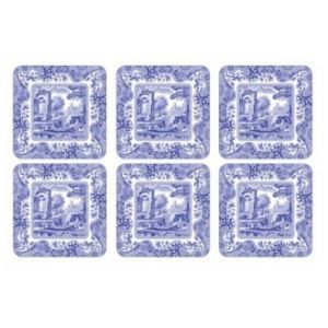 Spode Blue Italian by Pimpernel Set of 6 Coasters