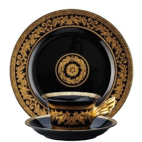 Versace Gold Baroque 3 Piece Set (Teacup Saucer u0026 Plate 22cm)  sc 1 st  Luxury Dining & Versace Gold Baroque 3 Piece Set Teacup Saucer u0026 Plate 22cm