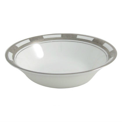 Aynsley China Empress Platinum Oatmeal Cereal bowl