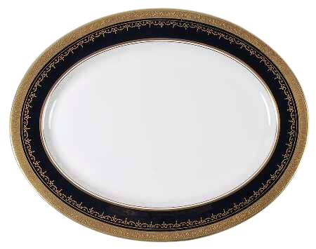 Aynsley China Georgian Coblat Large Oval Platter