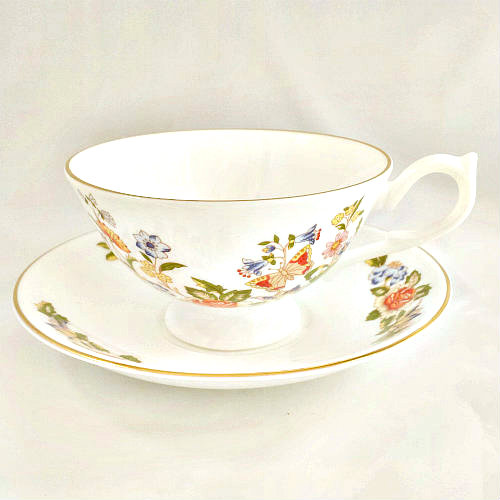 Aynsley Cottage Garden Teacup & Saucer Athens