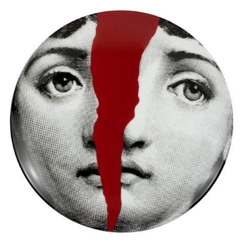 Fornasetti Wall Plate T & V 10