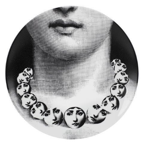 Fornasetti Wall Plate T & V 107