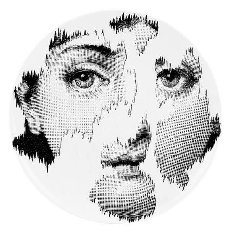 Fornasetti Wall Plate T & V 115