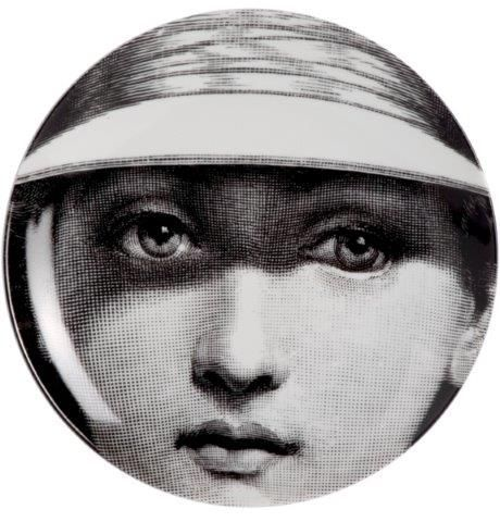 Fornasetti Wall Plate T & V 123