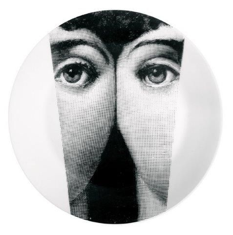 Fornasetti Wall Plate T & V 13