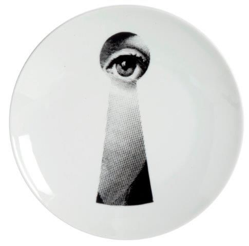 Fornasetti Wall Plate T & V 14