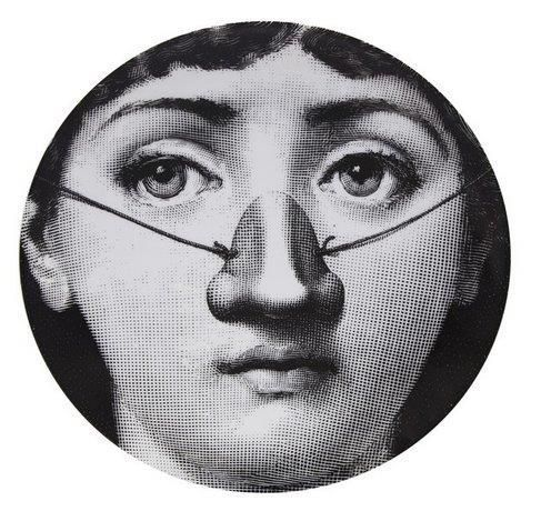 Fornasetti Wall Plate T & V 140