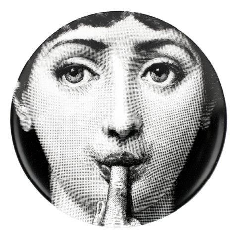 Fornasetti Wall Plate T & V 178