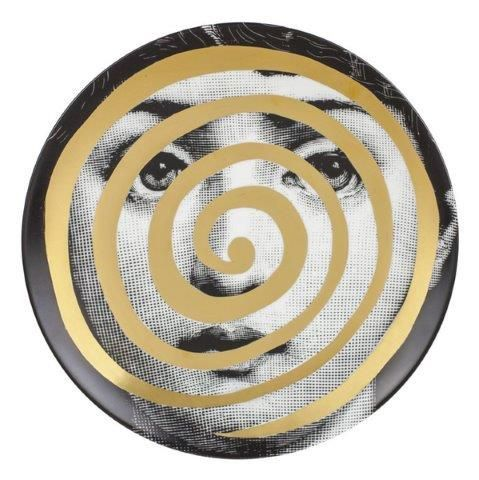 Fornasetti Wall Plate T & V 18 Gold