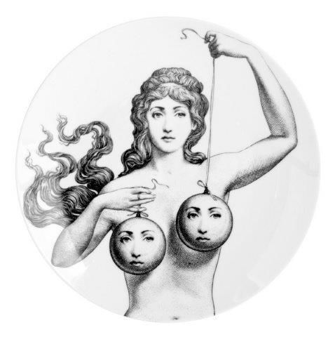 Fornasetti Wall Plate T & V 182