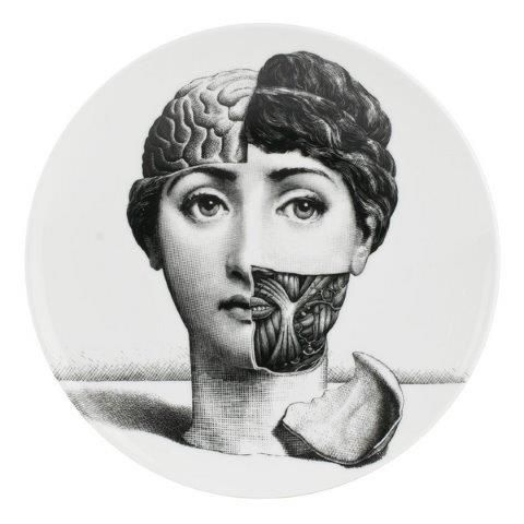 Fornasetti Wall Plate T & V 189