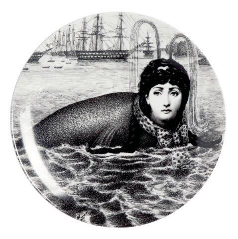 Fornasetti Wall Plate T & V 195