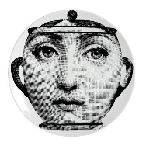 Fornasetti Wall Plate T & V 23