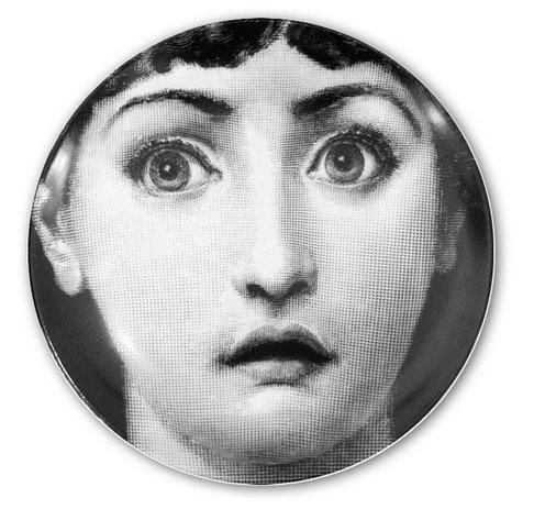 Fornasetti Wall Plate T & V 237