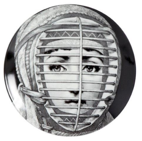 Fornasetti Wall Plate T & V 290