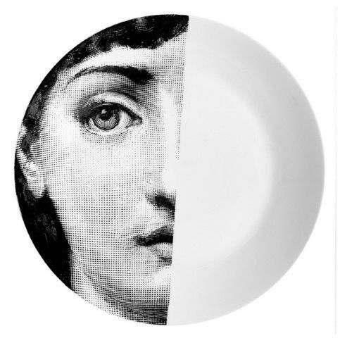 Fornasetti Wall Plate T &V 31