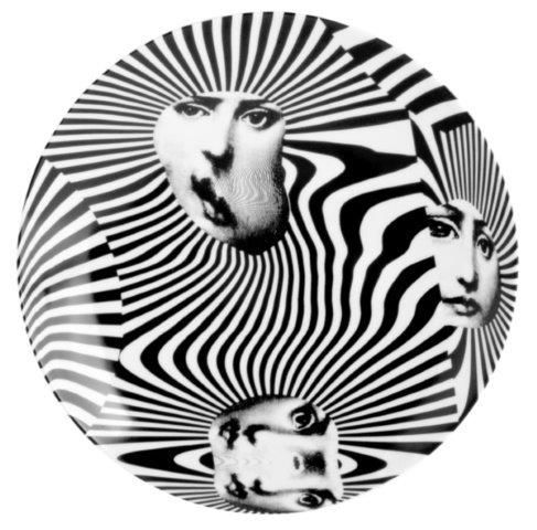 Fornasetti Wall Plate T & V 312