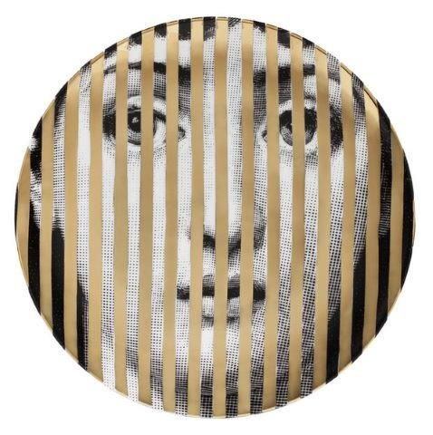 Fornasetti Wall Plate T & V 34 Gold