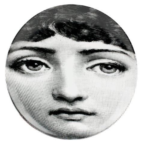 Fornasetti Wall Plate T & V 54