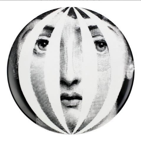 Fornasetti Wall Plate T & V 55