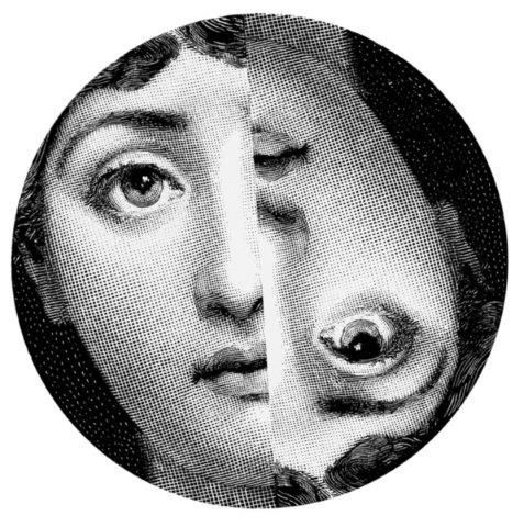 Fornasetti Wall Plate T & V 57