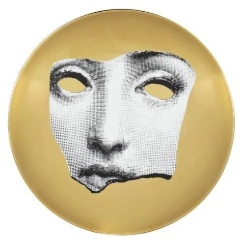 Fornasetti Wall Plate T & V 64 Gold