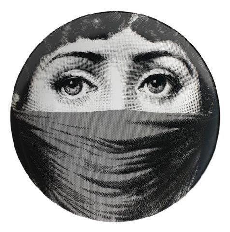 Fornasetti Wall Plate T & V 91