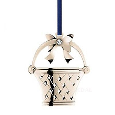 Georg Jensen Christmas tree decoration - Flower Basket 2008 white gold