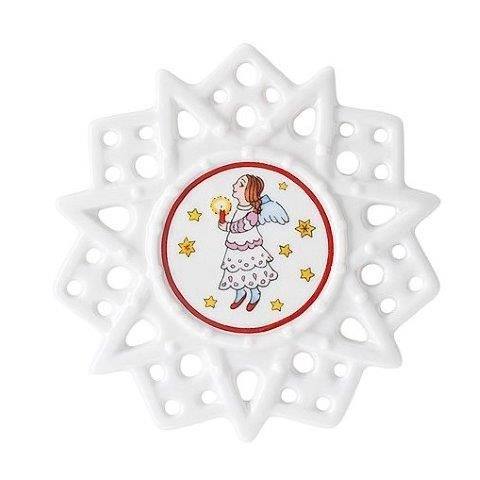 Hutschenreuther Christmas Memories Pierced Star Ornament-Angel Tree Decorations