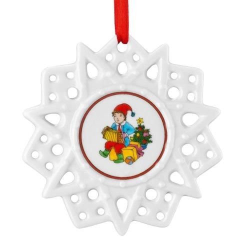 Hutschenreuther Christmas Memories Pierced Star Ornament-Christmas Music Tree Decorations