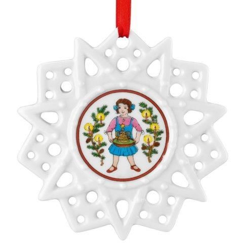 Hutschenreuther Christmas Memories Pierced Star Ornament-Christmas Time Tree Decorations