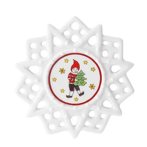 Hutschenreuther Christmas Memories Pierced Star Ornament-Imp Tree Decorations