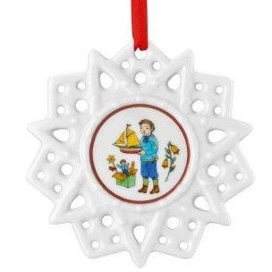 Hutschenreuther Christmas Memories Pierced Star Ornament-Toys Tree Decorations