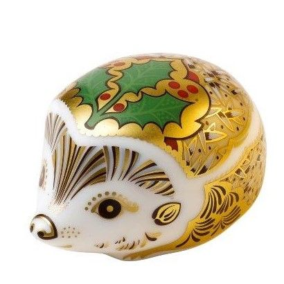 Royal Crown Derby hedgehog - holly s/s Paperweight
