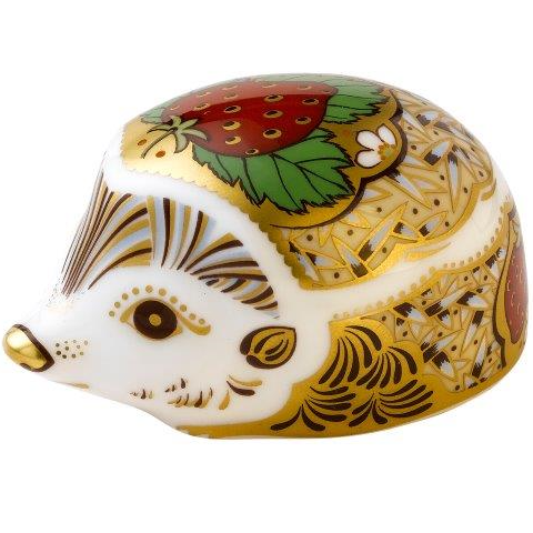 Royal Crown Derby hedgehog - strawberry s/s Paperweight