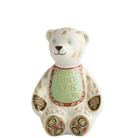 Royal Crown Derby HRH Prince Louis of Cambridge Bib Bear - Royal Birth 2018