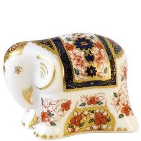 Royal Crown Derby infant imari elephant Paperweight