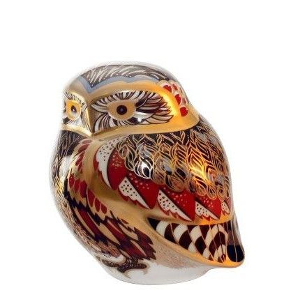 Royal Crown Derby little owl Paperweight