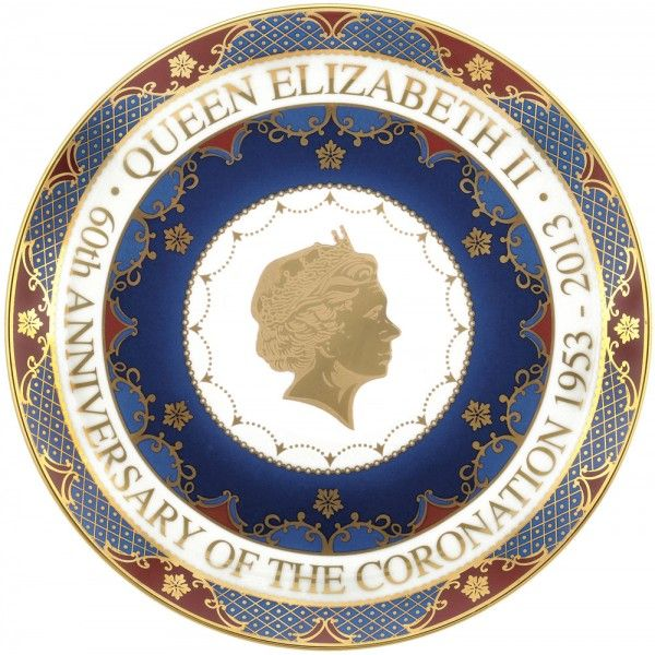 Royal Worcester Queen's Coronation 60th Anniversary Coupe Plate