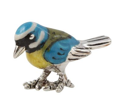 Saturno Sterling Silver Blue Tit (Very Small) 13094