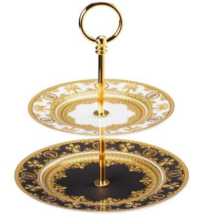 Versace I Love Baroque Cake Stand 2 Tier