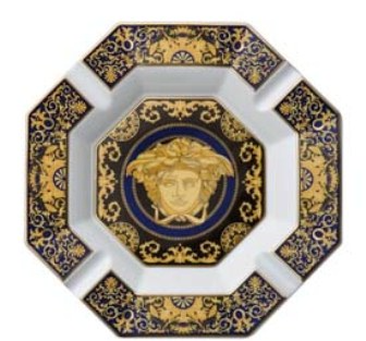 Versace Medusa Blue Ashtray 14 cm