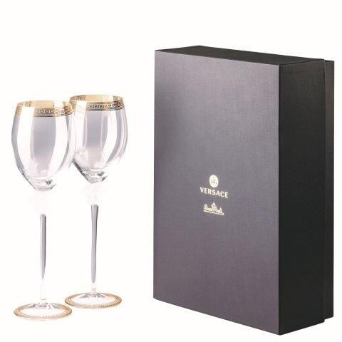 Versace Medusa D'Or  Red Wine 2Pc Set