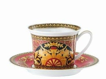 Versace Medusa Red Breakfast Cup & Saucer