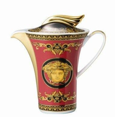 Versace Medusa Red Coffee Pot