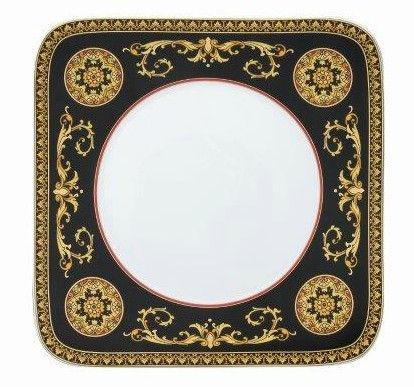 Versace Medusa Red Dinner Plate 27cm angular