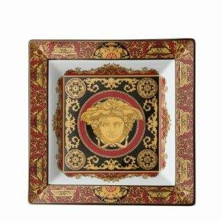 Versace Medusa Red Large Dish 22cm