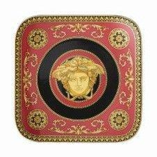 Versace Medusa Red Side Plate 14cm angular