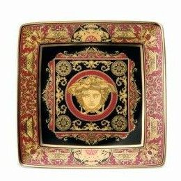 Versace Medusa Red Small Bowl 12cm sq. flat